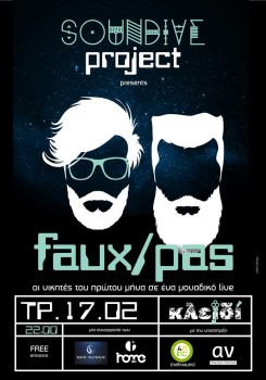 Soundive Project presents Faux/Pas live @ Κλειδί